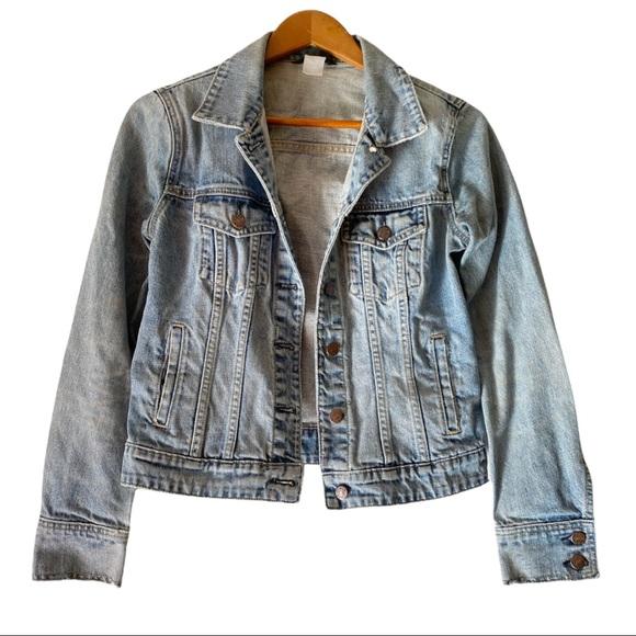 J. Crew Denim Light Wash Trucker Jean Jacket Size Small 100% Cotton